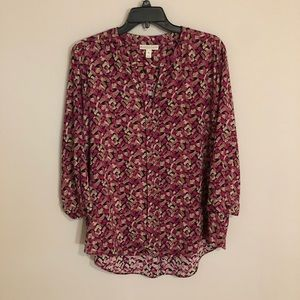 Patterned Dana Buchman Blouse